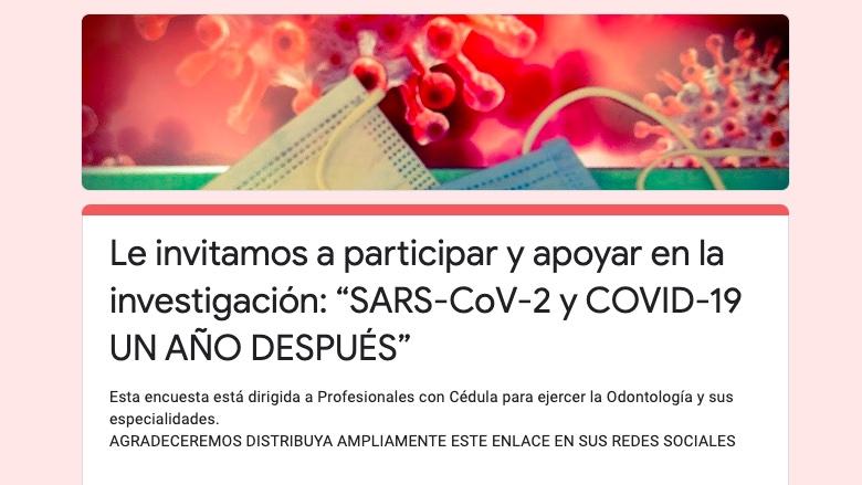 """Encuesta """"SARS-CoV-2 y COVID-19 un año después"""""""